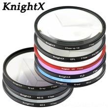 KnightX CPL UV STAR filtr ND 49MM 52MM 55MM 58MM 62MM 67MM 72MM 77MM na podczerwień danie zestaw obiektywów do aparatu do aparatu Nikon Canon polaryzacyjny