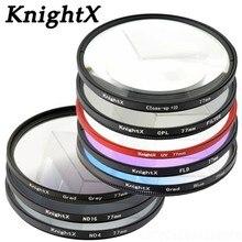 KnightX CPL filtro UV STAR ND 49MM 52MM 55MM 58MM 62MM 67MM 72MM 77MM Kit de lente de plato infrarrojo cámara para Nikon Canon polarizador