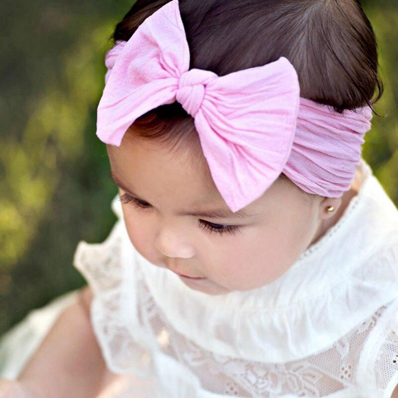 79e542209f1e7 Baby Nylon Headbands Stretch soft nylon headwraps Newborn headband Kids  hair bows CLASSIC knot nylon head