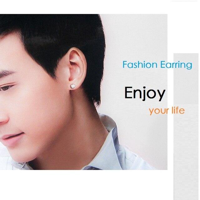 Фото модные серебряные серьги с кристаллами для мужчин нестандартные цена