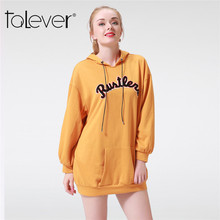 2017 Casual Women's Autumn Sweater Cute Solid Long Sleeve Hooded Hoodies Fashion Khaki Letter Kangaroo Bag Tops Female Talever