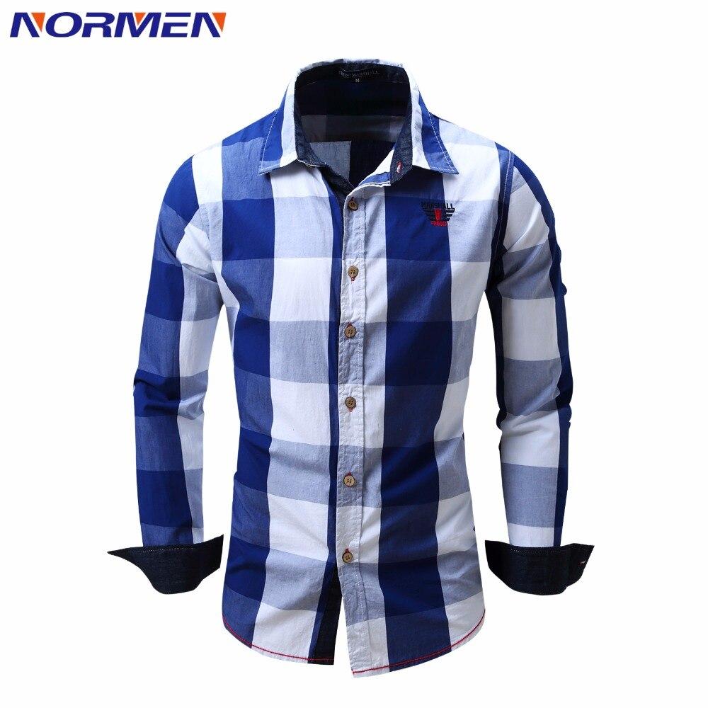 Compra camisa a cuadros de los hombres online al por mayor