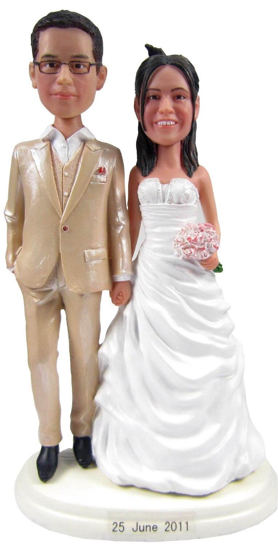 ᗛPersonalized bobblehead doll sweet couple wedding gift wedding ...