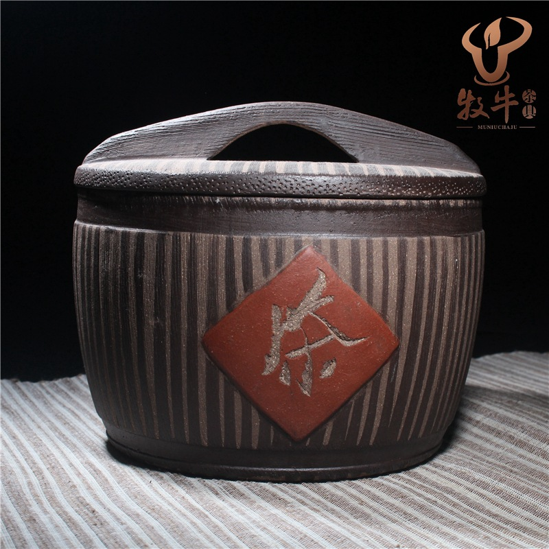 Yixing tea wholesale tank antique tea tea pot barrel unique full mixed batch yunnan tea wholesale pu er tea long park menghai chen xiang tea tuo mini cookies