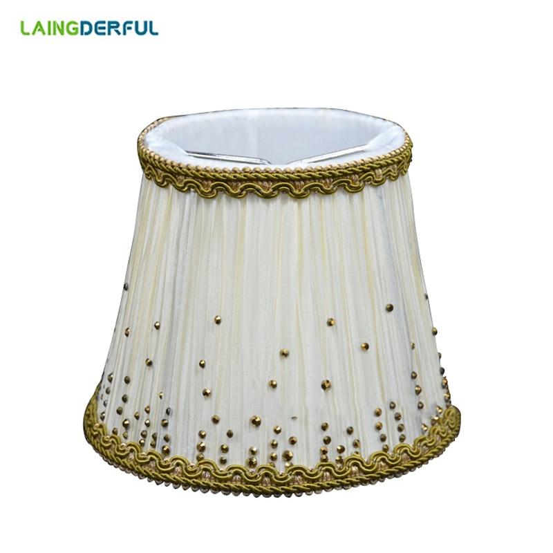 Art Deco Lamp Shades: Nordic Style Fabric Lamp Shade Art Deco Cloth Crystal
