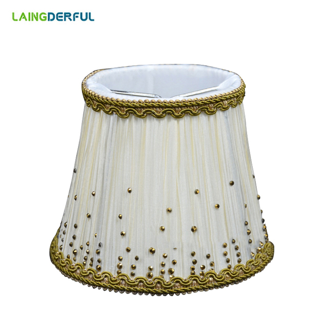 Nordic Style Fabric Lamp Shade Art Deco Cloth Crystal Candle Light 90 130 110mm For Chandelier Wall Lampshade