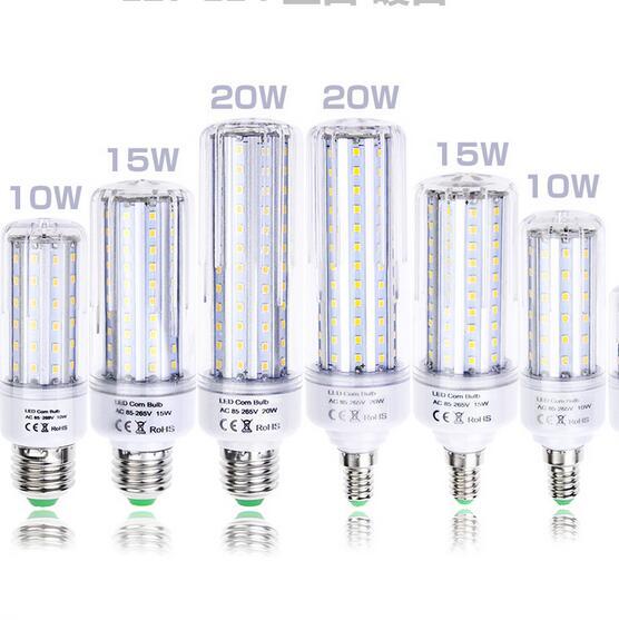 LED światła 85-265 V 110 V 220 V E27 E14 B22 2835 SMD LED żarówki 5 W 10 W 15 W 20 W lampa LED kukurydzy oszczędzania Energii Lampada biurko czytania