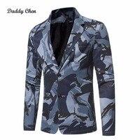 남성 위장 재킷 남성 캐주얼 재킷 2018 봄 새로운 패션 남성 재킷 육군 녹색 카모 블루 슬림 맞는 큰 큰 크기 3XL