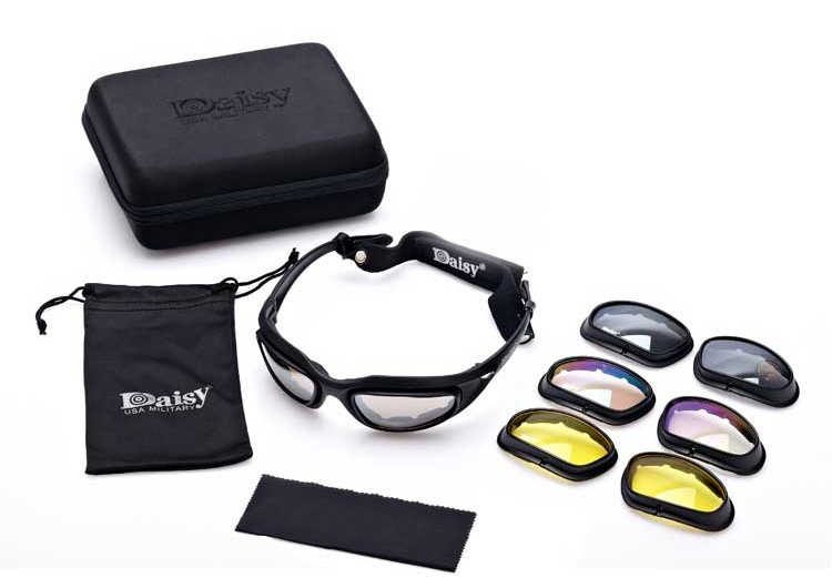 military sunglasses  Aliexpress.com : Buy Daisy C5 Army Goggles Desert 4 Lenses ...