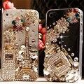 Роскошные Алмазный Эйфелева Башня Духи Стразами Bling Case Для Samsung Galaxy S7 S6 край S5 S4 S3 Примечание 5 4 3 A3 A5 A7 J5 J7 2016