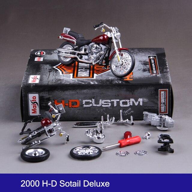 H-D Street Rod Sotail Deluxe 74FL Motocicleta Model Building Kits 1/18 montagem do brinquedo caçoa o presente mini moto diecast toy para o presente diy