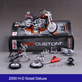 H-D Street Rod Sotail Deluxe 74FL Motorcycle Model Building Kits 1/18 assembly toy kids gift mini moto diy diecast Toy For Gift