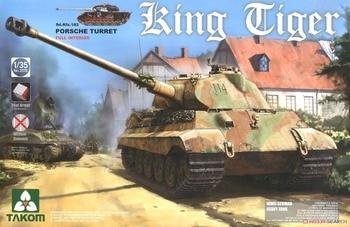 Takom 1/35 #2074 WWII German King Tiger (Pors che Turret) w/ Full Interior