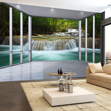 3D  Forest Waterfall Wallpaper