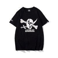 Bape kids by a bathing ape t shirt man summer pirate bone