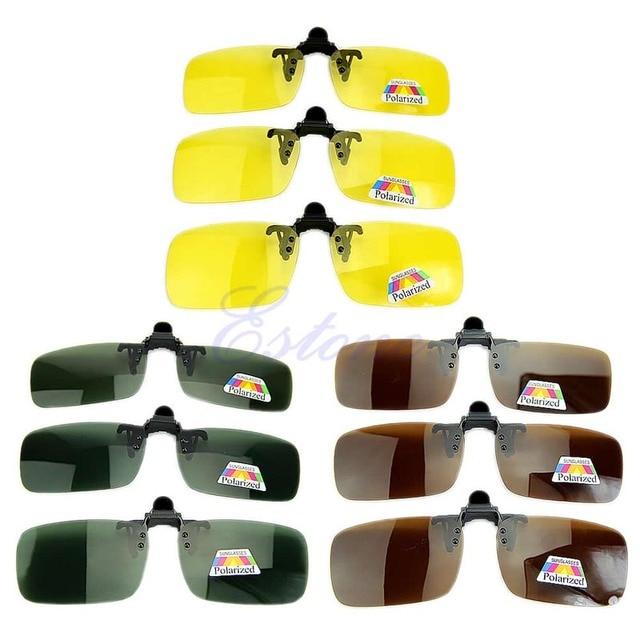 יום ראיית לילה מקוטב קליפ על עדשת Flip-up נהיגה משקפיים