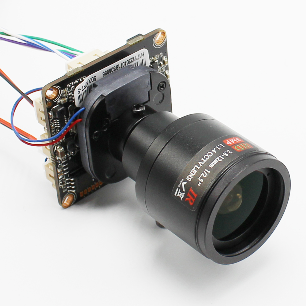 2.8-12mm Lens 4MP 1080P POE DIY IP Camera Module Board With IRCUT RJ45 Cable Mobile APP XMEYE 1080P ONVIF