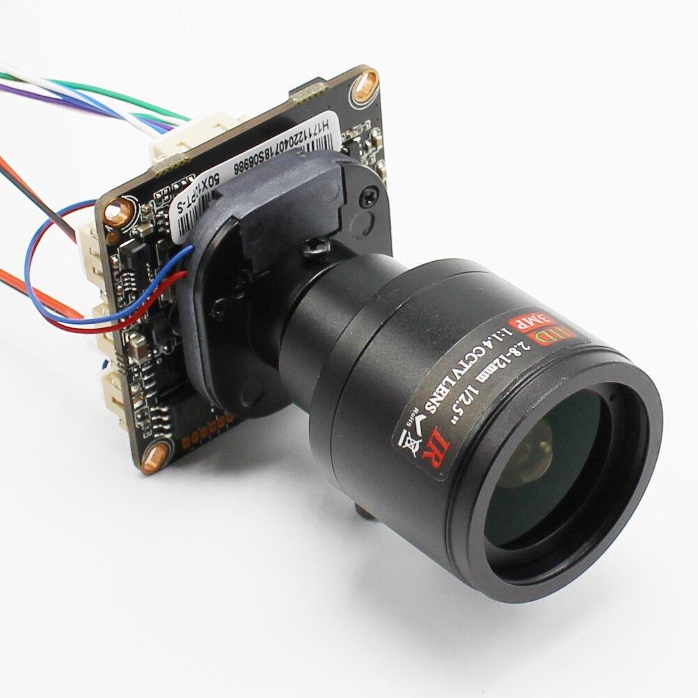 Ultral Faible Éclairage HI3516C + SONY IMX323 DIY CCTV Caméra IP Module ONVIF Mobile Serveillance CMS XMEYE 2.8mm Lentille ONVIF
