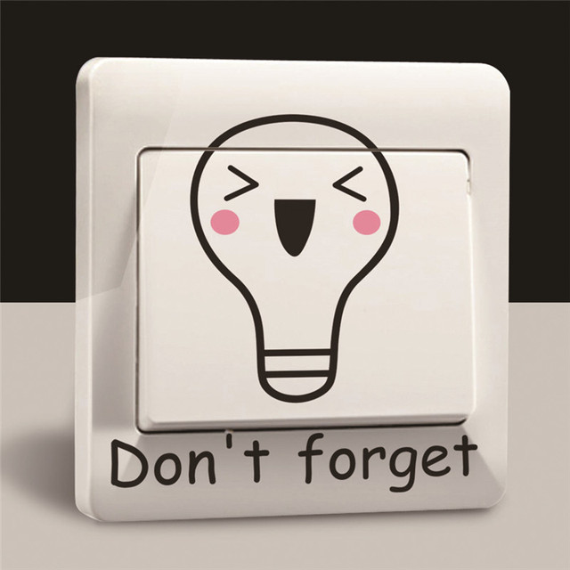 Buy Cartoon Don 39 T Forget Turn Off The Light Wall Sticker Switch Decor Remind