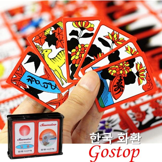 Korean Japanese PVC Waterproof Mahjong Gostop Go Stop Board Game - cards party