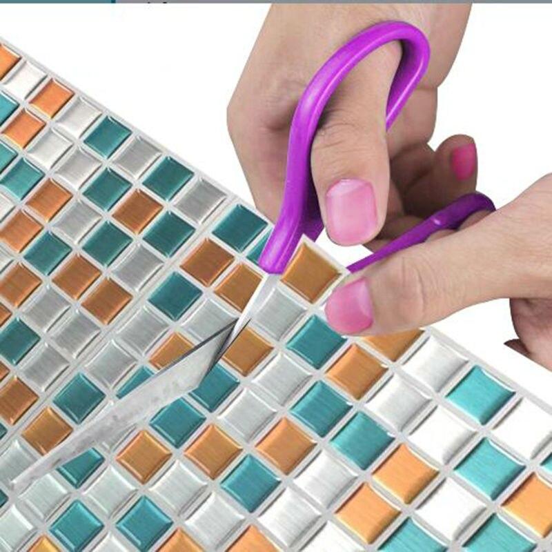 Mosaic Tile Waterproof And Easy Clean Wallpaper Peel And