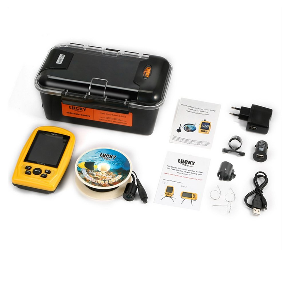 Lucky FF3308-8 Portable Underwater Camera Fishing Inspection System Handheld Wired Fish Finder with Underwater Camera Drop Ship эхолот lucky ff918 180 portable
