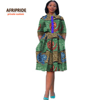 2017african Style Dress For Women Traditional African Clothing New Cotton Fabrics Robe Africaine Bazin Riche Maxi