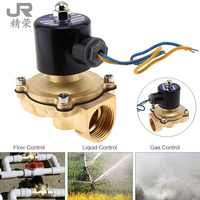 1 DC 12V Electric Magnetic Solenoid Valve Pneumatic Valve Brass Body for Water Air Oil Gas