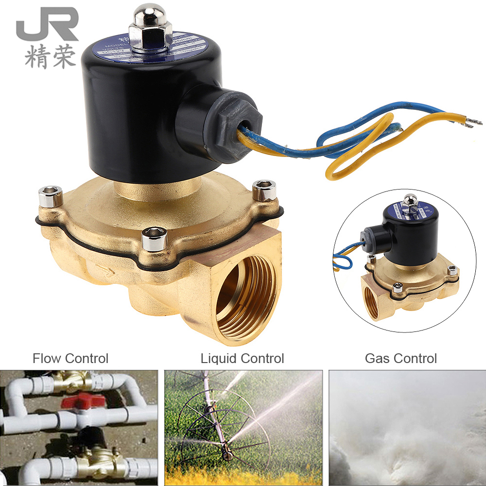 1 DC 12V Electric Magnetic Solenoid Valve Pneumatic Valve Brass Body for Water Air Oil Gas brass electric solenoid valve 2w 200 20 3 4 inch npt for air water valve 110v nc