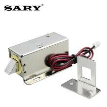 DC12V 0.8A küçük elektromanyetik kilit depolama dolapları elektronik kilit mini elektrikli cıvata kilidi çekmece dosya dolabı kilidi