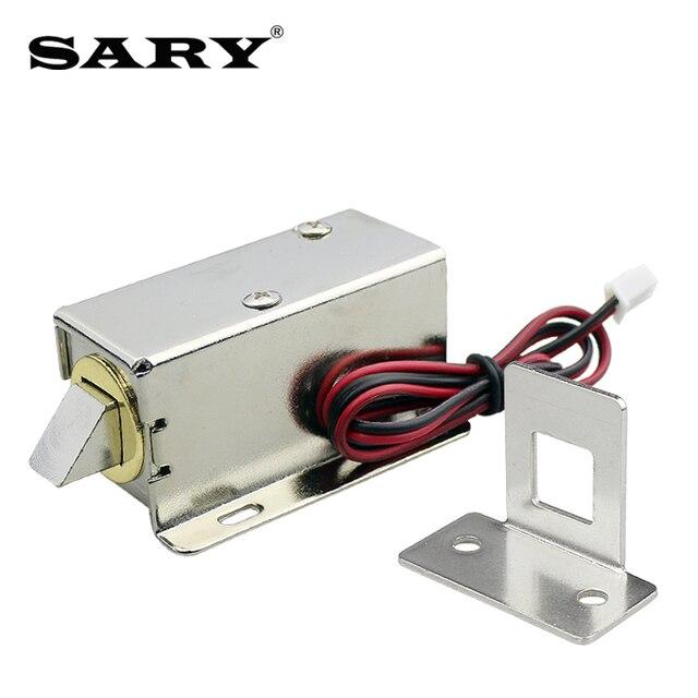 Trava eletromagnética pequena de 0.8a, armários de armazenamento, mini parafuso elétrico, fechadura de gaveta, armário