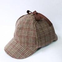 Detektyw Sherlock Holmes Kapelusz Deerstalker Nowości Prezenty Movie Cosplay Hat Cap Unisex Kostiumy Płaskie Czapki Hip Hop Akcesoria