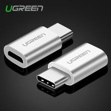 Ugreen Micro USB к USB 3.1 Кабель Тип Адаптера C Конвертер для Xiaomi 4C Lg G5 Nexus 5x6 p Oneplus2 Macbook Тип C адаптер(China (Mainland))
