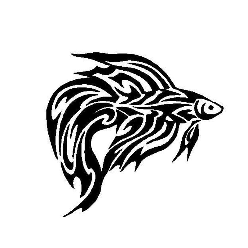 15 5 14 5cm Tribal Betta Fish Car Sticker Classic Creative Animal