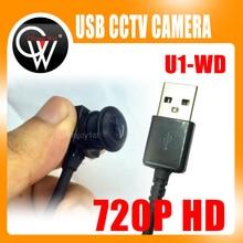 Caméra de vidéosurveillance USB mini PC, objectif 720mm/1.8mm (3.7mm/2.5mm en option) grand Angle HD 2.8 P