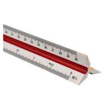 BLEL School Accessories Drafting Tools Xmas Plastic Triangular Scale Ruler Students Measuring Tool Rulers(China)