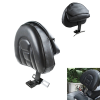 Black Plug In Driver Rider Soft Backrest Kit for Harley Fatboy Heritage Softail 2007 2017
