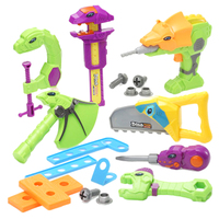 18Pcs/Lot Children Pretend Play Assembly Toy Emulational Dinosaur Repair Kit Stegosaurus Electric Saw Set For Kids Hot