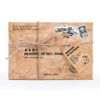 30pcs Pack Retro Back To Back Memories Greeting Card Postcards Envelope Birthday Bussiness Gift Card Set