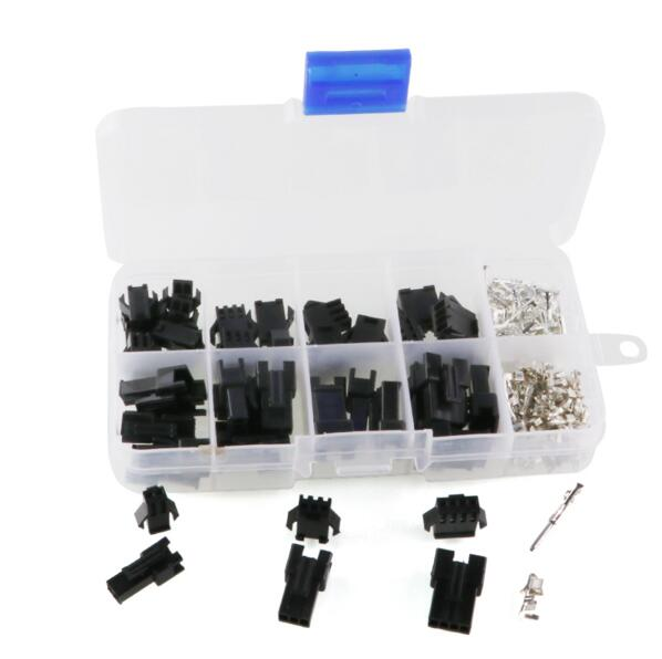 SM2.54 Kits 25 sets Kit in box 2p 3p 4p 2.54mm Pitch Female and Male Header Connectors Adaptor Kits Hand Tool