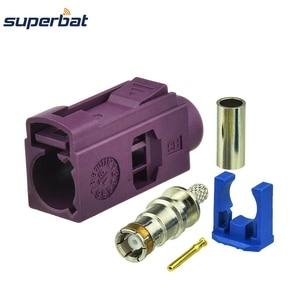 Image 2 - Superbat 10 pièces Fakra sertissage Jack connecteur pour voiture violette GSM téléphone cellulaire pour câble RG316 LMR100