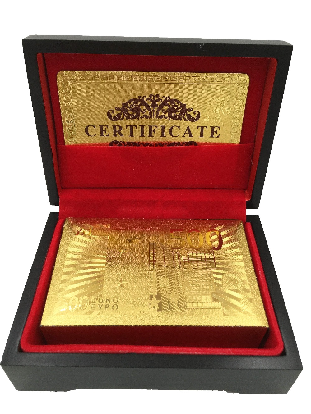 Euro 500 24K Carat Gold Foil Plated Poker Card Game