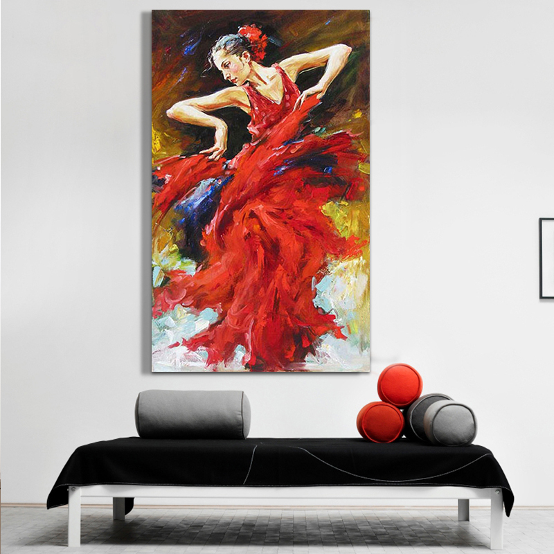 discount dancer oil painting 100 hand painted figure art pictures on canvas for wall decor - Wholesale Art And Frames