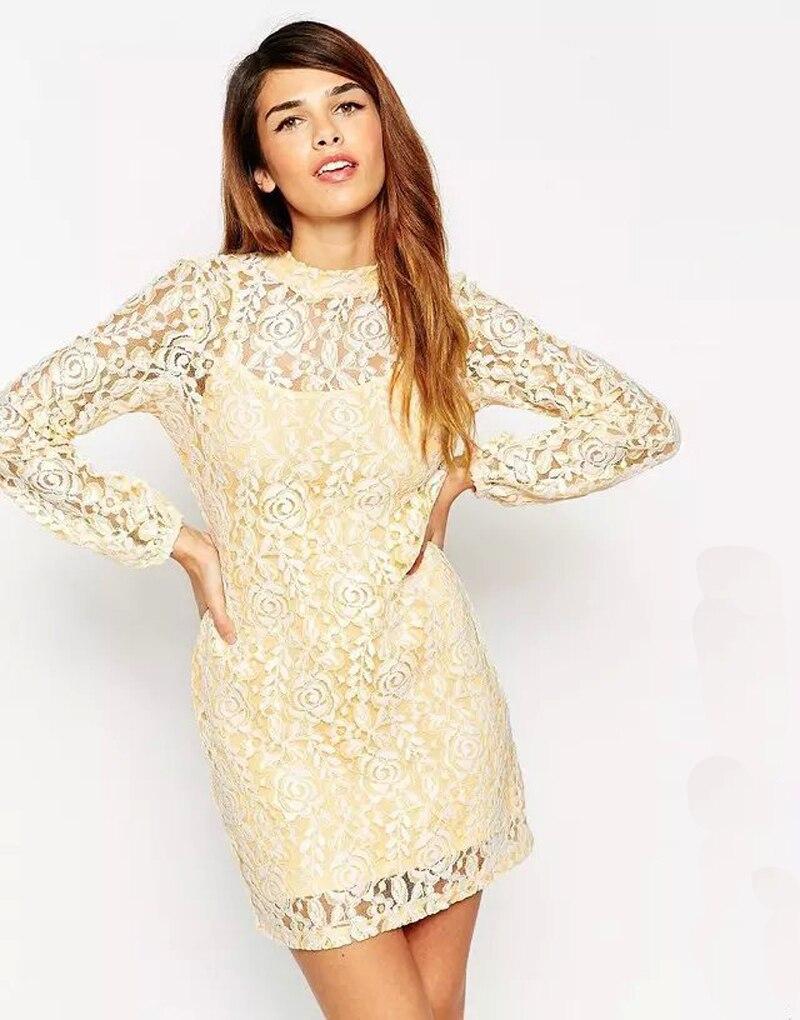 New Arrive Vestidos Women Fashion Casual Lace Dress 2015 ...
