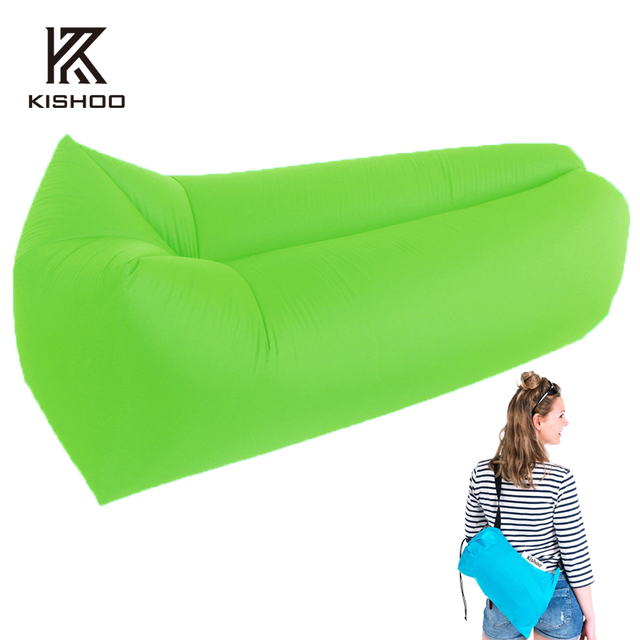 Outdoor Inflatable Couch Camping Furniture Sleeping Compression Air Bag Lounger Hangout Fabric Bearing 200kg 250kg