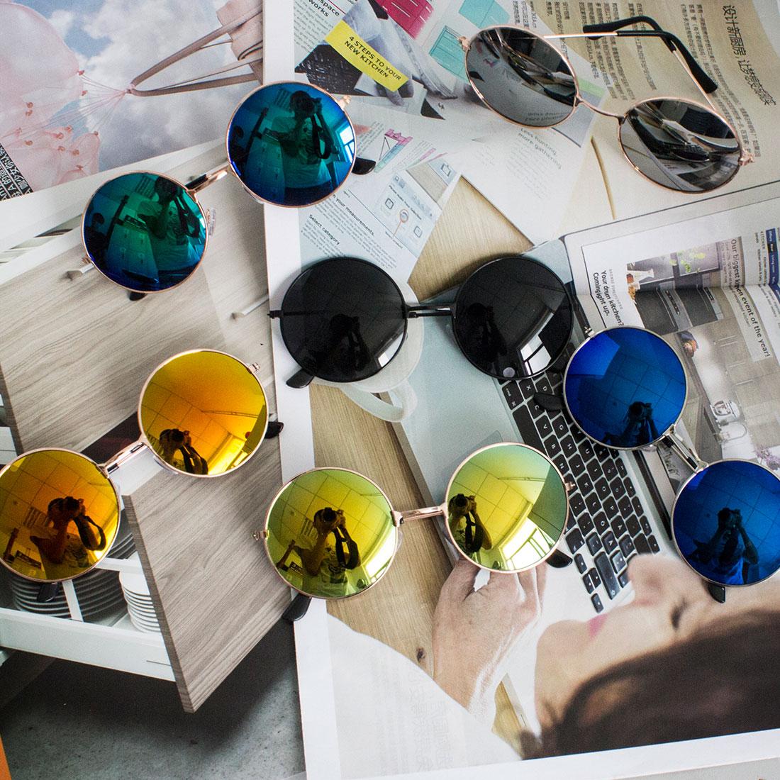 Damenbrillen 2018 Neue Mode Vintage Runde Linse Sonnenbrille Männer/frauen Retro Klare Linse Brillen Sonne Uv Gläser Für Weibliche Sonnenbrillen