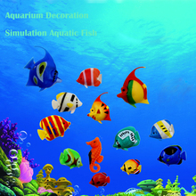10/pcs Simulation fish Aquarium decoration Artificial Colorful Mini Tropical Fish Water column lights dedicated simulation