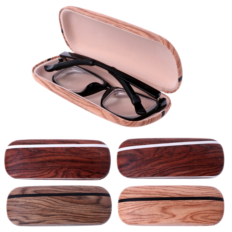 Circle Christmas Snowflake Illustration Glasses Case Eyeglasses Clam Shell Holder Storage Box