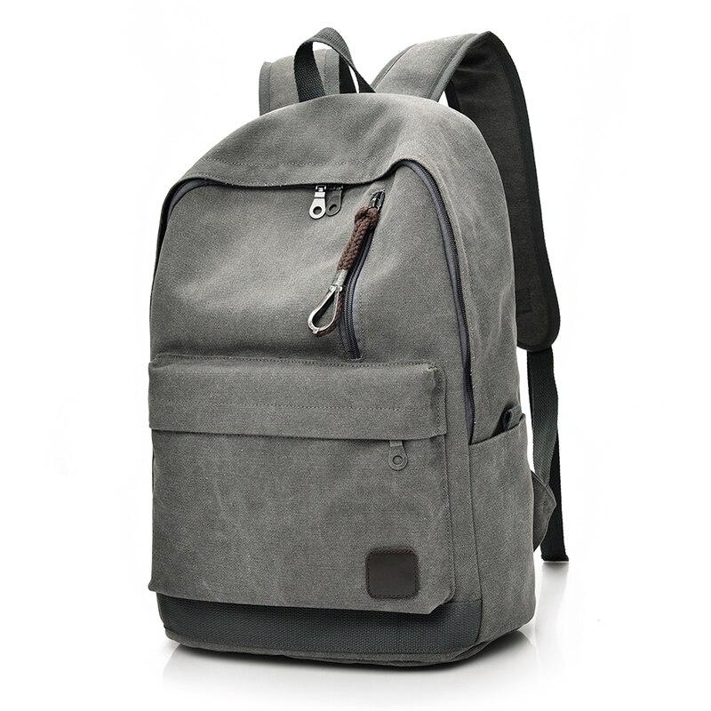 9d956601a9 DIDA BEAR 2018 Women Men Canvas Backpacks Large School Bags For Teenager  Boys Girls Travel Laptop Backbag Mochila Rucksack Grey-in Backpacks from  Luggage ...