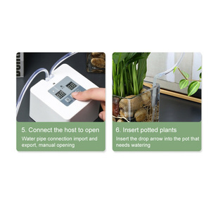 Image 3 - DIY Micro Automatic Drip Irrigation System 5~10 Pots Self Water Indoor Sprinkler USB Charging Garden Watering System